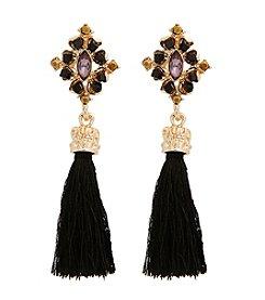Erica Lyons® Drama Tassel Pierced Earrings