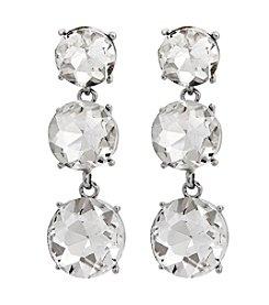 Erica Lyons® Drama Triple Drop Pierced Earrings