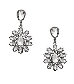 Erica Lyons® Drama Flower Drop Pierced Earrings