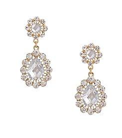 Erica Lyons® Drama Drop Teardrop Pierced Earrings