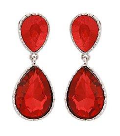 Erica Lyons® Drama Double Teardrop Pierced Earrings