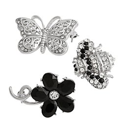 Erica Lyons® Scatter Pin Trio Butterfly Bee Flower