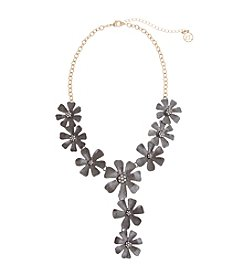 Erica Lyons® Meet Me In Glitzerland Flower Frontal Necklace
