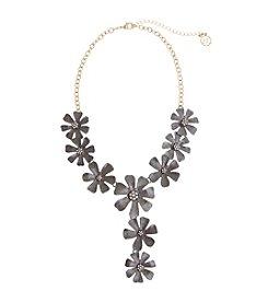 Erica Lyons® Meet Me In Glitzerland Flower Frontal Necklace