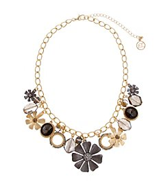 Erica Lyons® Meet Me In Glitzerland Charmy Flower Shaky Necklace