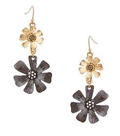 Erica Lyons® Meet Me In Glitzerland Graduated Flower Pierced Earrings