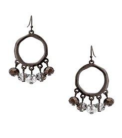 Erica Lyons® Meet Me In Glitzerland Beaded Drop Hoop Pierced Earrings