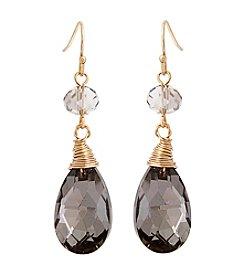 Erica Lyons® Meet Me In Glitzerland Teardrop Drop Pierced Earrings