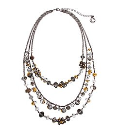 Erica Lyons® Meet Me In Glitzerland Triple Row Necklace