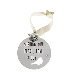 TRUE SENTIMENTS Peace, Love & Joy Disk Ornament