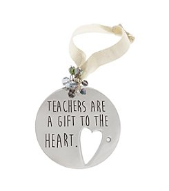 TRUE SENTIMENTS Teachers Are A Gift To The Heart Disk Ornament