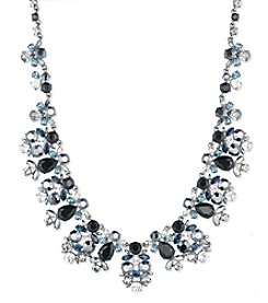 Givenchy® Jet and Blue Drama Collar Necklace