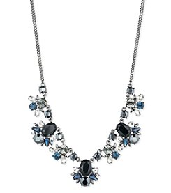 Givenchy® Jet and Blue Stone Frontal Necklace