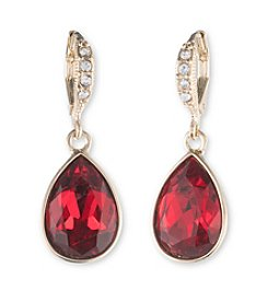 Givenchy® Red Stone Drop Earrings