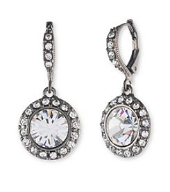 Givenchy® Crystal Round Drop Earrings