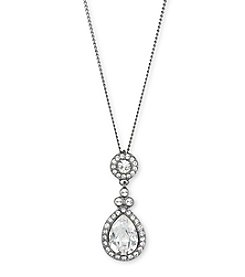 Givenchy® Crystal Pear Pendant Necklace