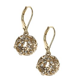 Nine West Vintage America Collection® Crystal Fireball Drop Earrings