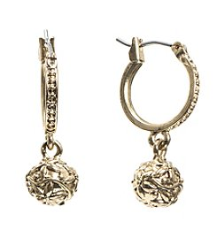 Nine West Vintage America Collection® Drop Off Hoop Earrings