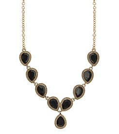 Nine West Vintage America Collection® Black and Goldtone Y Necklace