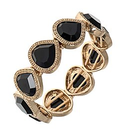 Nine West Vintage America Collection® Black Stone Stretch Bracelet