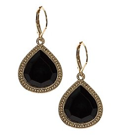 Nine West Vintage America Collection® Black Large Teardrop Earrings