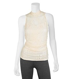 A. Byer Lace Shirred Top