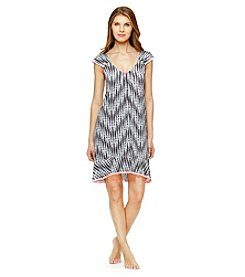 Ellen Tracy® Lace Grid Nightgown