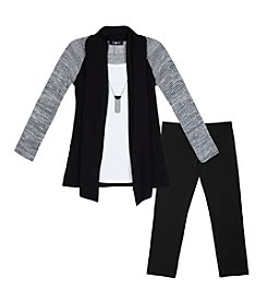 Amy Byer Girls' 7-16 2-Piece Layered Cozy And Leggings Set
