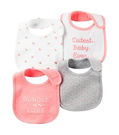 Carter's® Baby Girls' 4-Pack Floral Bibs