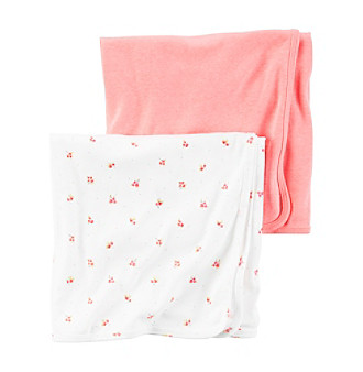 Carter's® Baby Girls' 2-Pack Floral Swaddle Blankets