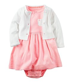 Carter's® Baby Girls' 2-Piece Striped Dress And Cardigan Set