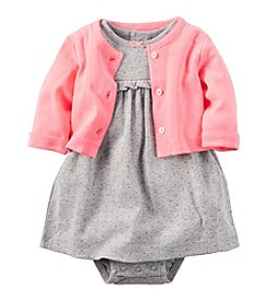 Carter's® Baby Girls' 2-Piece Dot Dress and Cardigan Set