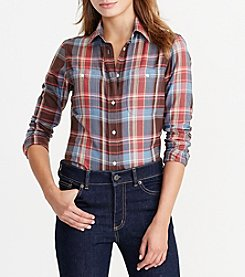 Lauren Ralph Lauren® Plaid Cotton Twill Shirt