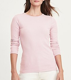 Lauren Ralph Lauren® Zip-Shoulder Cotton Tee
