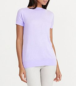 Lauren Ralph Lauren® Silk-Blend Cap-Sleeve Sweater