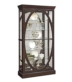 Pulaski Display Cabinet With Oval Front And LED Lighting