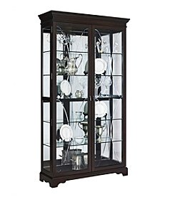 Pulaski Two-Door Display Cabinet With LED Lighting