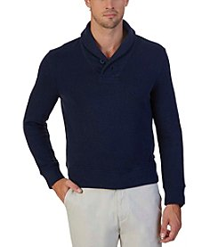 Nautica® Men's French Rib Shawl Collar Fleece