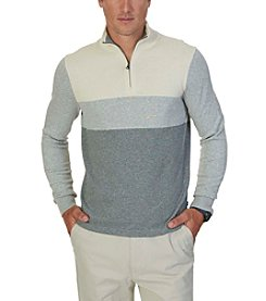 Nautica® Men's 1/4 Zip Colorblock Sweater