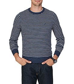 Nautica® Men's Snow Striped Crew Sweater