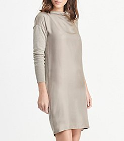 Lauren Ralph Lauren® Twill-Front Sweater Dress