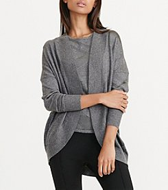 Lauren Ralph Lauren® Metallic Plaid Cardigan