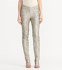 Lauren Ralph Lauren® Sequined Skinny Pants