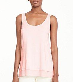 Lauren Ralph Lauren® Sheer Hem Jersey Tank