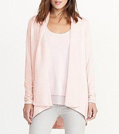 Lauren Ralph Lauren® Open Front Jersey Cardigan