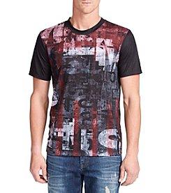 William Rast® Men's Short Sleeve Drip Flag Graphic Tee