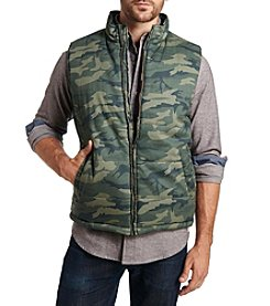 Weatherproof® Men's Camo Vest With Flag Lining