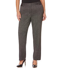 Rafaella® Plus Size Manhattan Tweed Pants