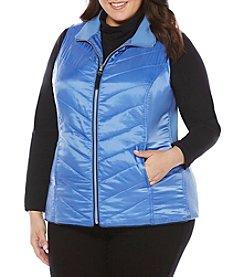 Rafaella® Plus Size Solid Puffer Vest