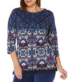 Rafaella® Plus Size Mutli Print Tunic